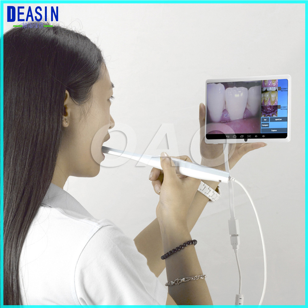 2018 Dental CF-688A intra oral camera with USB + OTG dental camera for android phone and Android Tablet medical equipment usb intraoral oral dental camera with 6 led light multifunctional ear nose camera medical otoscopio endoscope for home use