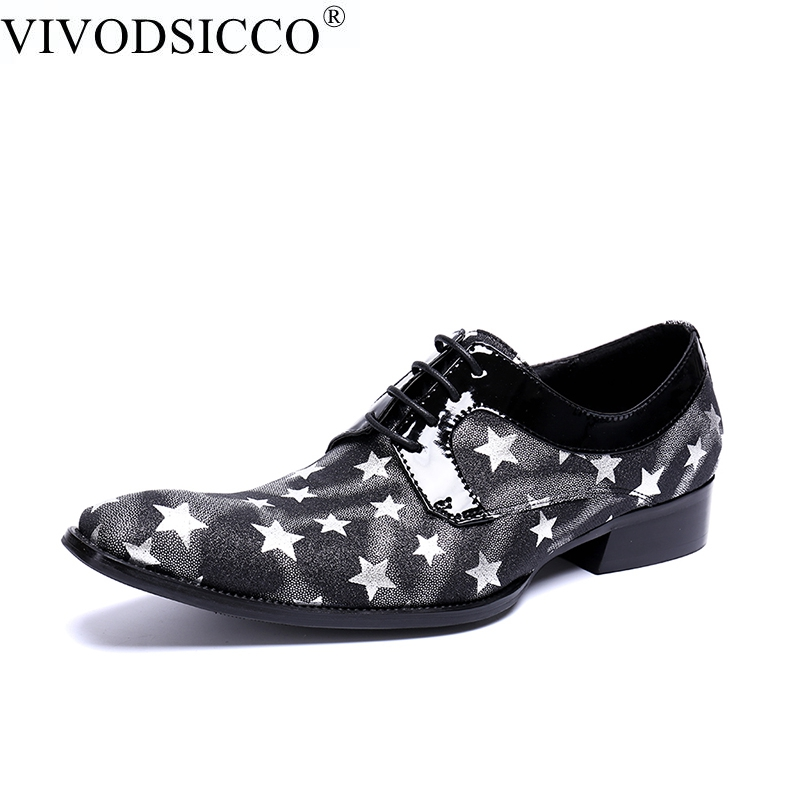 VIVODSICCO Luxury Brand Oxfords Shoes For Men Dress Shoes Genuine Leather Office Dress Shoes Zapatos Hombre sapato masculino men party shoes oxfords 2015 hot men s genuine leather shoes brand sapato masculino couro social round toe palladium shoes 38 46