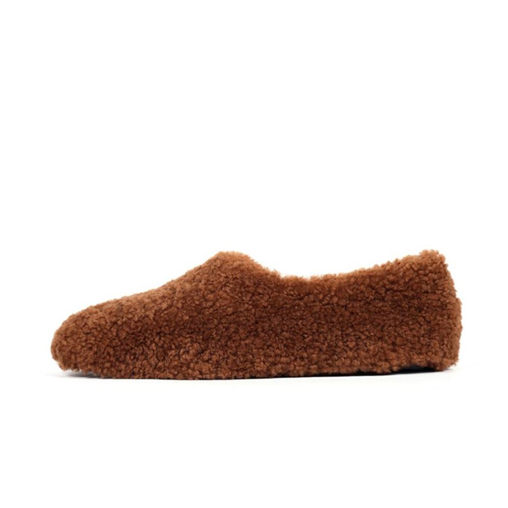 Pattes Solide Plates Chaussures black brown Décontracté Agneau Suede Nouvelle Couleur Quotidien Hiver White Seule wqO60vHn