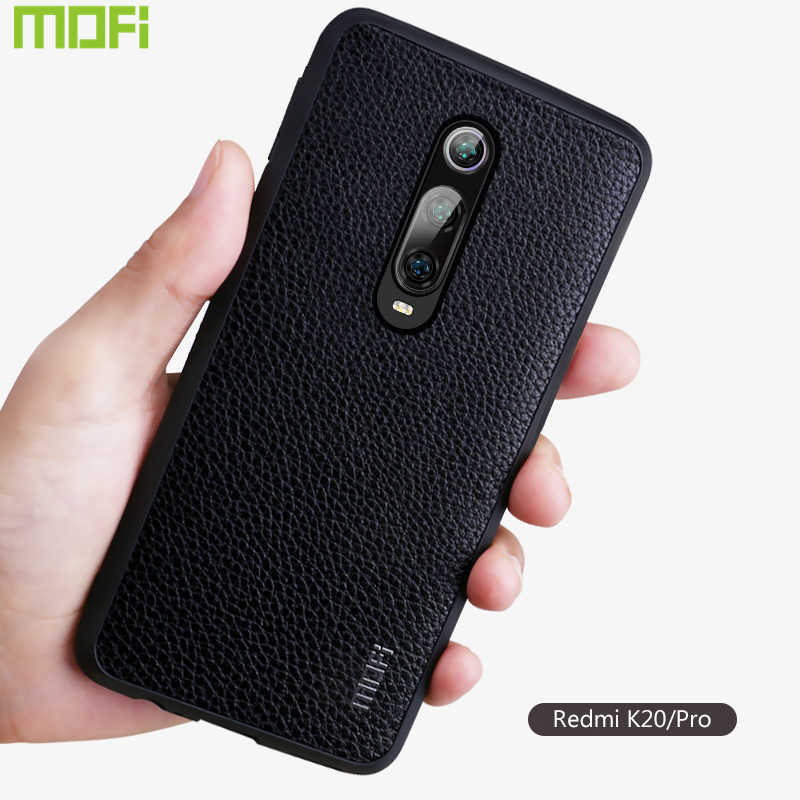 K20 Case For Xiaomi Redmi K20 Pro Case Cover Mofi For Xiaomi Mi9T pro Case Pu Leather Protector Business Style Brown Red Black