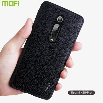 K20 Case For Xiaomi Redmi K20 Pro Case Cover Mofi For Xiaomi Mi9T pro Case Pu Leather Protector Business Style Brown Red Black