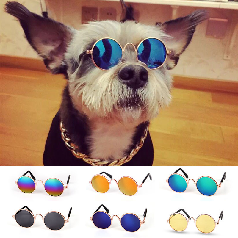 Cool Fashion Pet Glasses Cat Little Dog Sunglasses Eye-wear Puppy Sunglasses Photo Prop Pet Supplies Accessories for Small Dogs