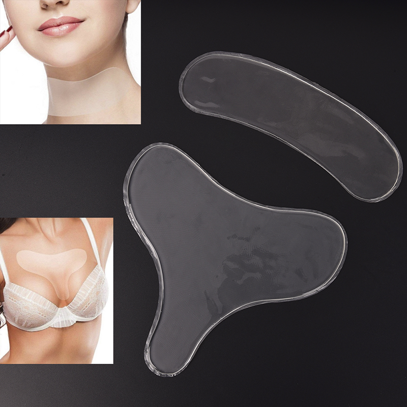 Chest-Pad Remover Skin-Care Wrinkle-Treatment Anti-Wrinkle Silicone 2pcs Prevention Transparent