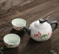 Ceramic Courier Cup China Kung Fu Tea Set Travel Portable Pot Of Two Cup