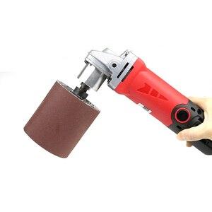 Image 4 - 90*100*19mm גומי תוף ליטוש גלגל רולר + M14 חשמלי מטחנות מתאם + מלטש להקות
