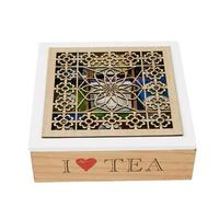 Tea Wooden Box Pu'er Tea Box Wooden Gift Box Storage Box Solid Wood Packaging Box 9 Grid Coffee Storage Box