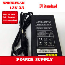High quality  EU plug  5.5*2.5 mm black 36 W switching supply  12 V 3 A  notebook 235 g Electric tool  power adapter supply