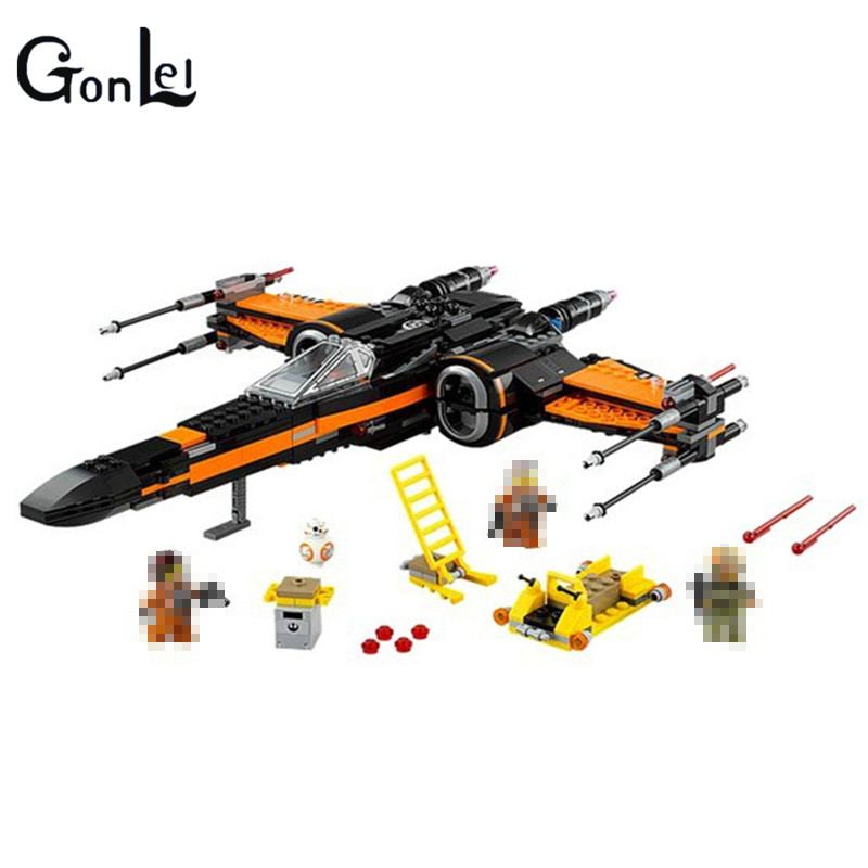 748Pcs Poe's X-wing Fighter Star Building Blocks Fighter Assembled Fighter Compatible 75102 Star X Wing Wars Toys For Children hot sale building blocks assembled star first wars order poe s x toys wing fighter compatible lepins educational toys diy gift