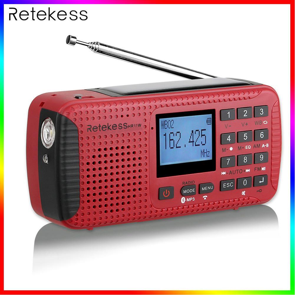 Récepteur solaire portatif de manivelle de secours Radio FM MW SW avec l'enregistreur numérique de lecteur MP3 de Bluetooth de TF
