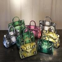 Crossbody Women's Bag 2018 Snake Women's Bag Platinum Tote Bag Fashion New Contrast Shoulder Stars