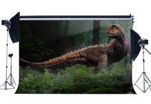 3D דינוזאור רקע תקופת היורה Cartoon תפאורות ג ונגל יער עצי Fairytale צילום רקע קישוט