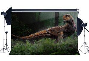 Image 1 - 3D ไดโนเสาร์ฉากหลัง Jurassic Period การ์ตูนฉากหลังป่าต้นไม้ Fairytale พื้นหลังตกแต่ง