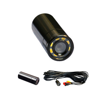 Wide Angle Waterproof Color Underwater Fish Camera with 8 LEDS (5m view);90deg,520TVL,4-24V