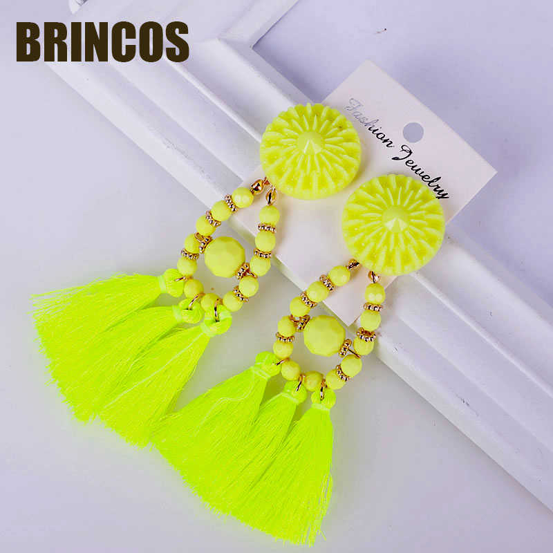 Tassel earrings for women bohemian jewelry korean indian big vintage gold statement drop bohemian ethnic 2019 earrings Boho