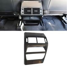 World Datong Interior ABS Chrome Rear Air Condition Armrest Outlet Vent Panel Carbon fiber texture Trim 1pcs for Jaguar E-pace