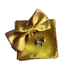 Pajarita para hombre, pañuelo de gemelos, mariposa blanca, vestido, camisa, cuello, botón, pañuelo de corbatín, gemelos, broche, lazo de satén