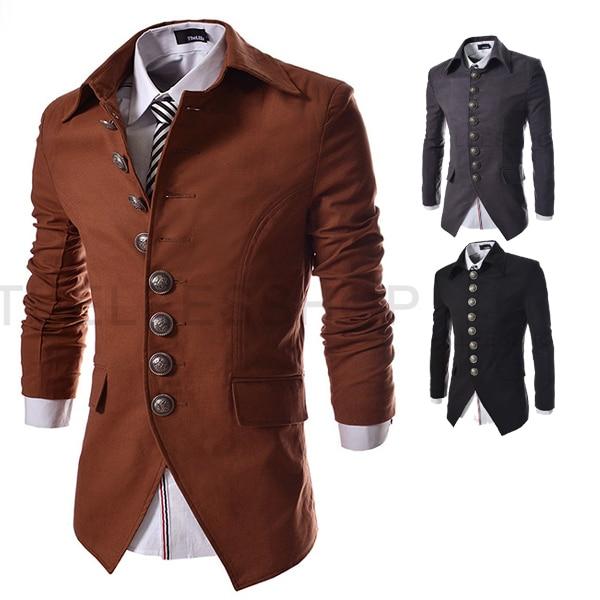 Design Mens Clothes Online Free | 2015 New Arrival Mens Blazer Jacket Multi Button Design Men S Casual
