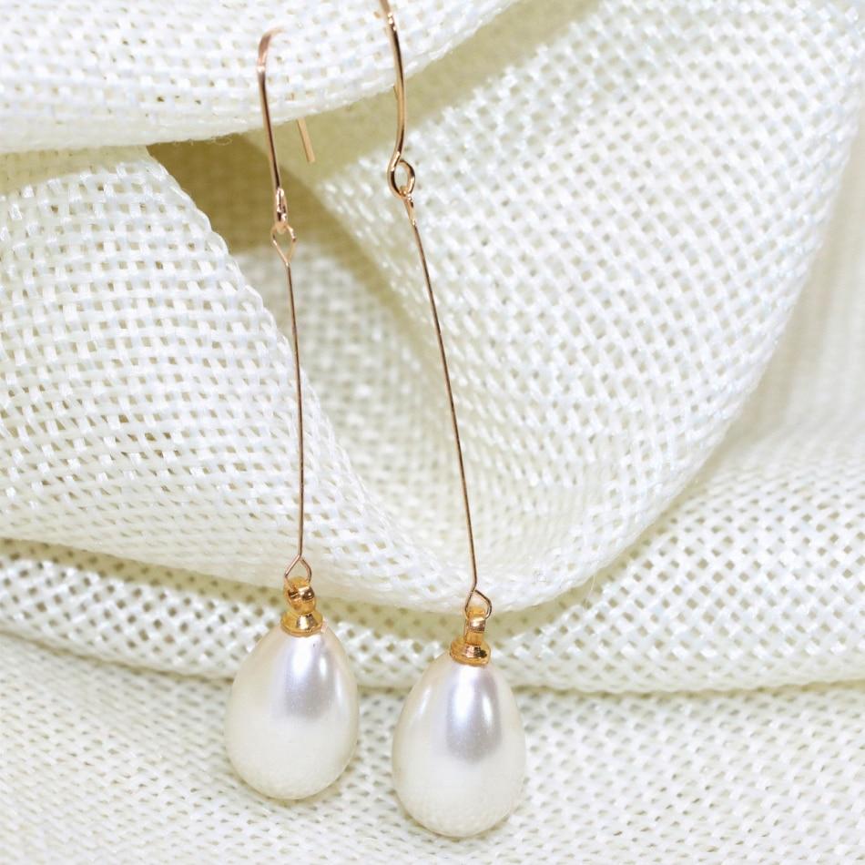 ᗐventa Caliente Blanco 9 13mm Teardrop Shell Simular Perla
