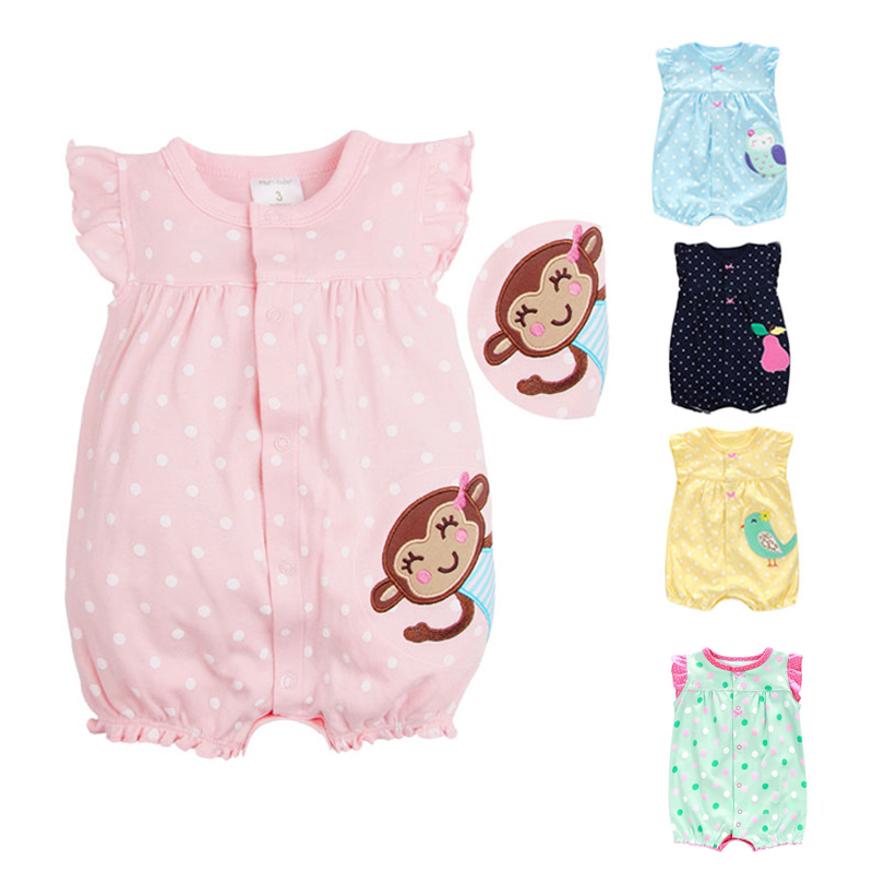 Summer Baby Romper Baby Boy Clothes Infant Jumpsuit Girls Clothing Set Roupas Bebes Cartoon Newborn Baby Clothes Kid Baby Romper 3pcs set newborn infant baby boy girl clothes 2017 summer short sleeve leopard floral romper bodysuit headband shoes outfits