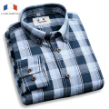 brand hot selling fashion mens long sleeve plaid shirt business high quality dress shirts for spring autumn camisetas masculinas