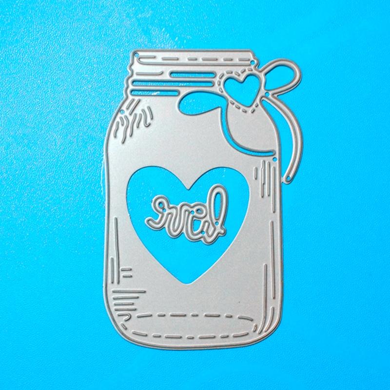 YLCD598 Liefde Wens Fles Metalen Stansmessen Voor Scrapbooking Stencils DIY Album Kaarten Decoratie Embossing Map Die Cutter