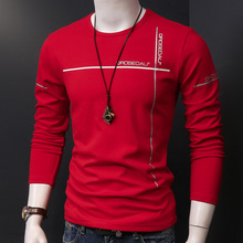 Spring fitting long sleeved T-shirt shirt jacket slim young spring handsome small cotton sweater