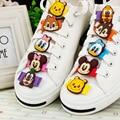 Creativo de los niños de dibujos animados clásicos de encaje hebilla de los zapatos deportivos zapatos de tela accesorios decorativos accesorios zapatos deducción sho