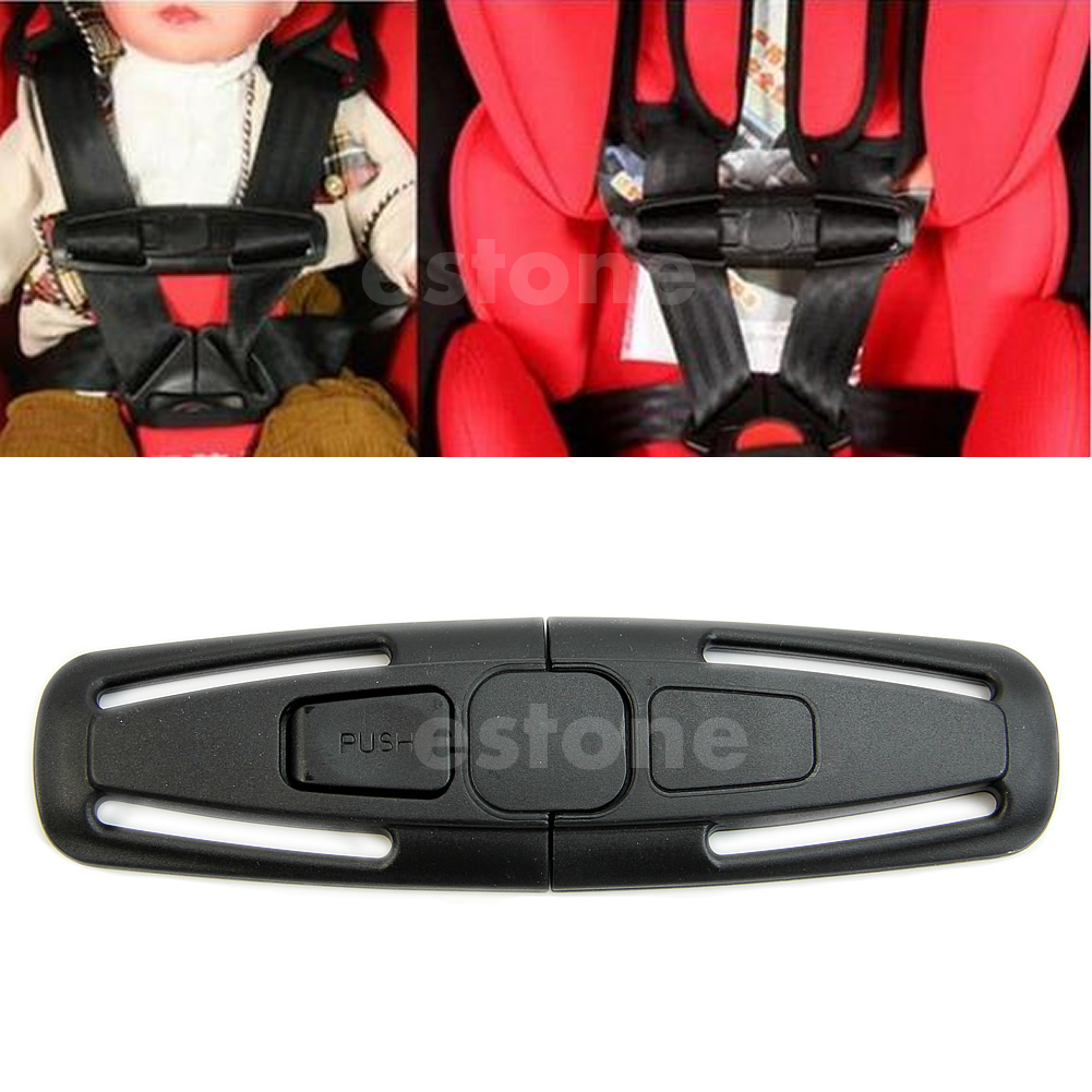 2019 New Durable Black Car Baby Safety Seat Strap Belt Harness Chest Child Clip Safe Buckle 1pc Baby Care