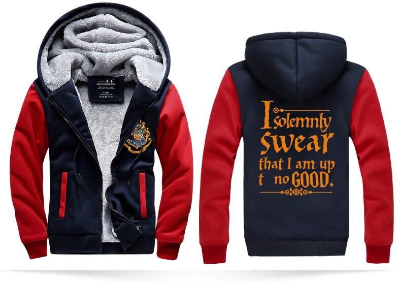 zippter fleece sweatshirt I Solemnly Swear That I Am Up No Good men jacket 2017 tracksuits winter casual hoodies