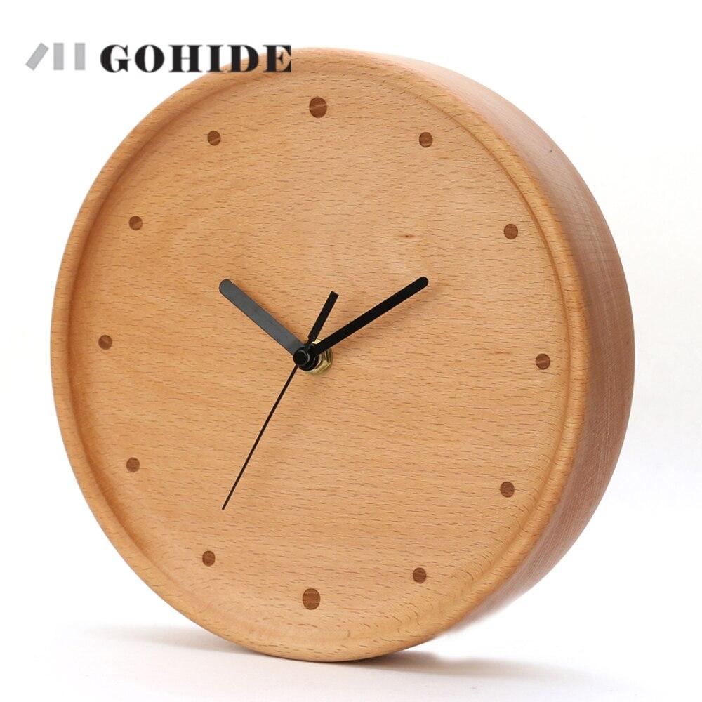 Juh New Arrival Simple Design Circular Wooden Wall Clock