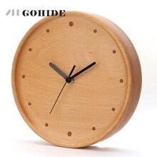JUH New Arrival Simple Design Circular Wooden font b Wall b font font b Clock b