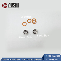 693ZZ SH Bearing 440C Stainless Steel Hybid Ceramic 1 PC