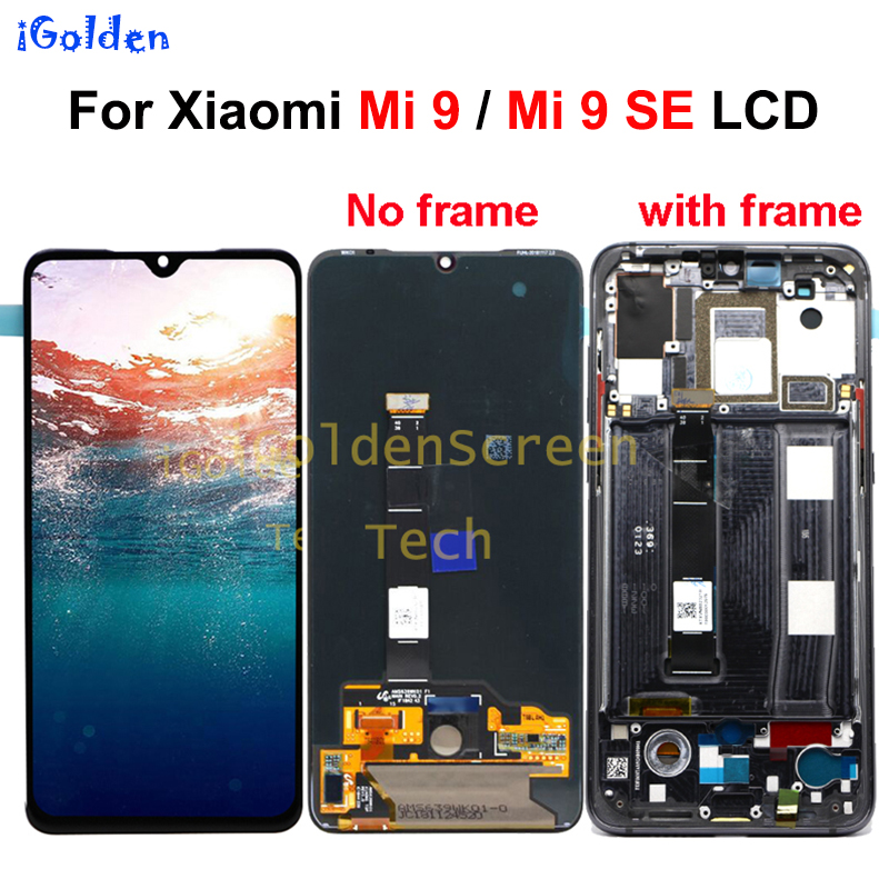 Original LCD Xiaomi Mi 9 LCD Display Touch Screen Digitizer Assembly Replacement Parts Display Mi9 SE