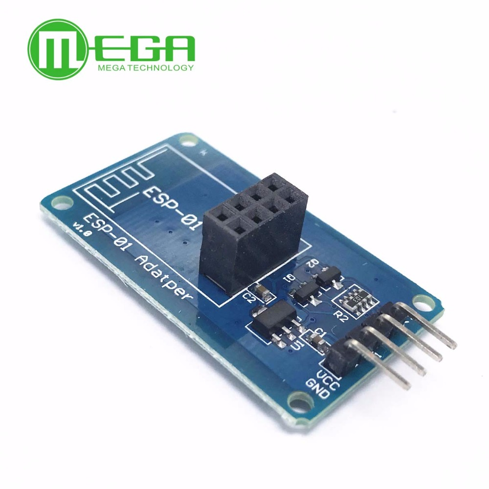 <font><b>ESP8266</b></font> ESP-01 ESP01 Serial WiFi Wireless <font><b>Adapter</b></font> Module 3.3V 5V Compatible Serial <font><b>Board</b></font> For Arduino UNO R3 Microcontroller One image