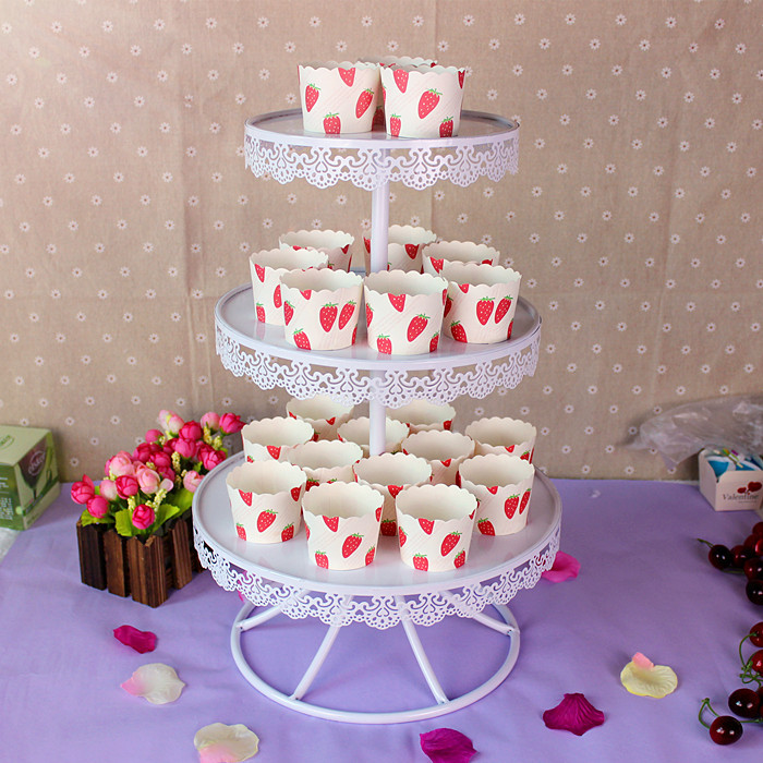 Aliexpress Buy White Color Wedding Cake Stands Cupcake Plates For Home Party Baking Coffee Shop Display Tools Dessert Tray From Reliable