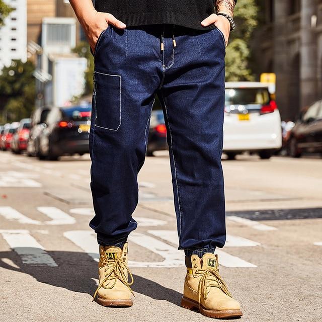 a7ce97a4a24 2018 new Men s jeans Loose Hip Hop jeans Men s Autumn Feet pants Cowboy  boots Large size S-5XL 6XL Men s clothing