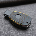 Высокое качество натуральная кожа ключеник автомобильный крышка бумажник комплект мешок для mercedes-benz класса w203 w210 w211 брелоки держатели брелок
