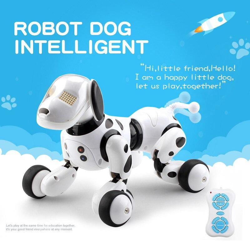 Intelligent RC Robot chien jouet Intelligent électronique animaux chien enfants jouet mignon animaux RC Intelligent Robot cadeau enfants anniversaire cadeau