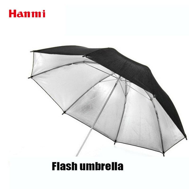 Hanmi Photographie Accessoires Parapluie Réflecteur Noir Ruban Réflecteur Parapluie 33 83 cm Photo Studio Flash Light Photo Parapluie