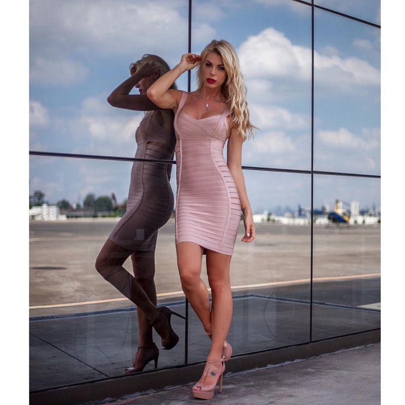 Club Pour 2018 D'été Gros Moulante Bandage De Cerfs Dame Sexy Rayonne Courroie Gaine Cut Rose En Les Hl Robe Femmes Out qXCxSTCw