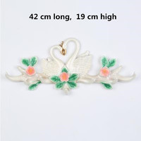European and American country style creative decoration swan wall hanging, home restaurant wall decoration crafts