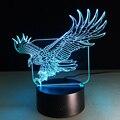 WOW Increíble Flying Eagle Forma Grande Luz Colorida de La Noche Hawk 3D Hotel Bar Dormitorio de la Lámpara de Mesa de La Oficina
