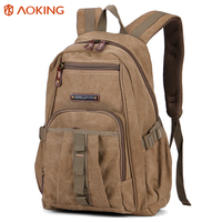 Aoking 2017 New Vintage Rucksack Leisure Fashion Canvas Backpack Unisex Large Capacity School Bag Men Casual