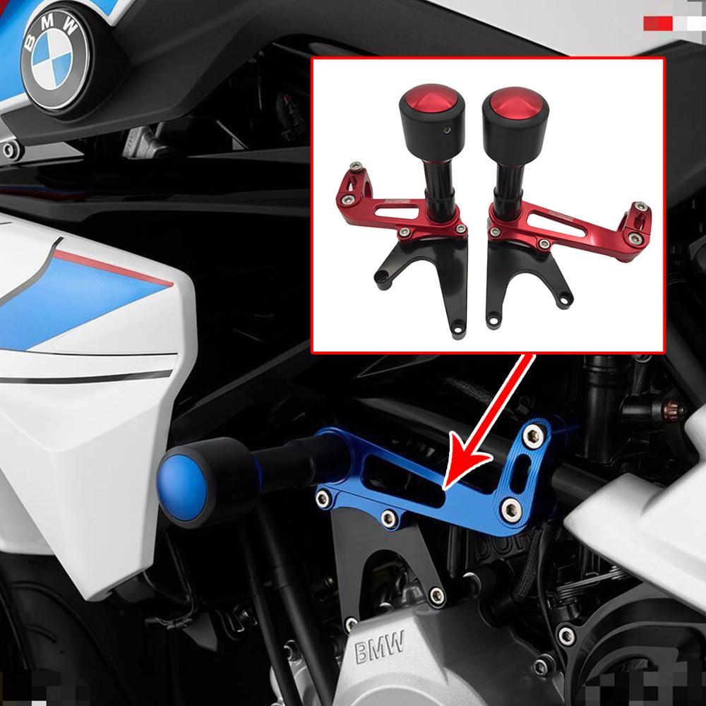 Silver Universal Motorcycle Frame Slider Guard Crash Pad Protector