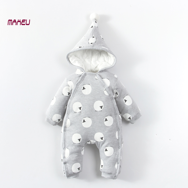 Newborn Baby Rompers Baby Boy Girl Clothes Fashion Autumn Winter Cotton Infant Jumpsuit Long Sleeve Rompers Costumes Baby Romper newborn infant baby boy girl cotton romper jumpsuit boys girl angel wings long sleeve rompers white gray autumn clothes outfit