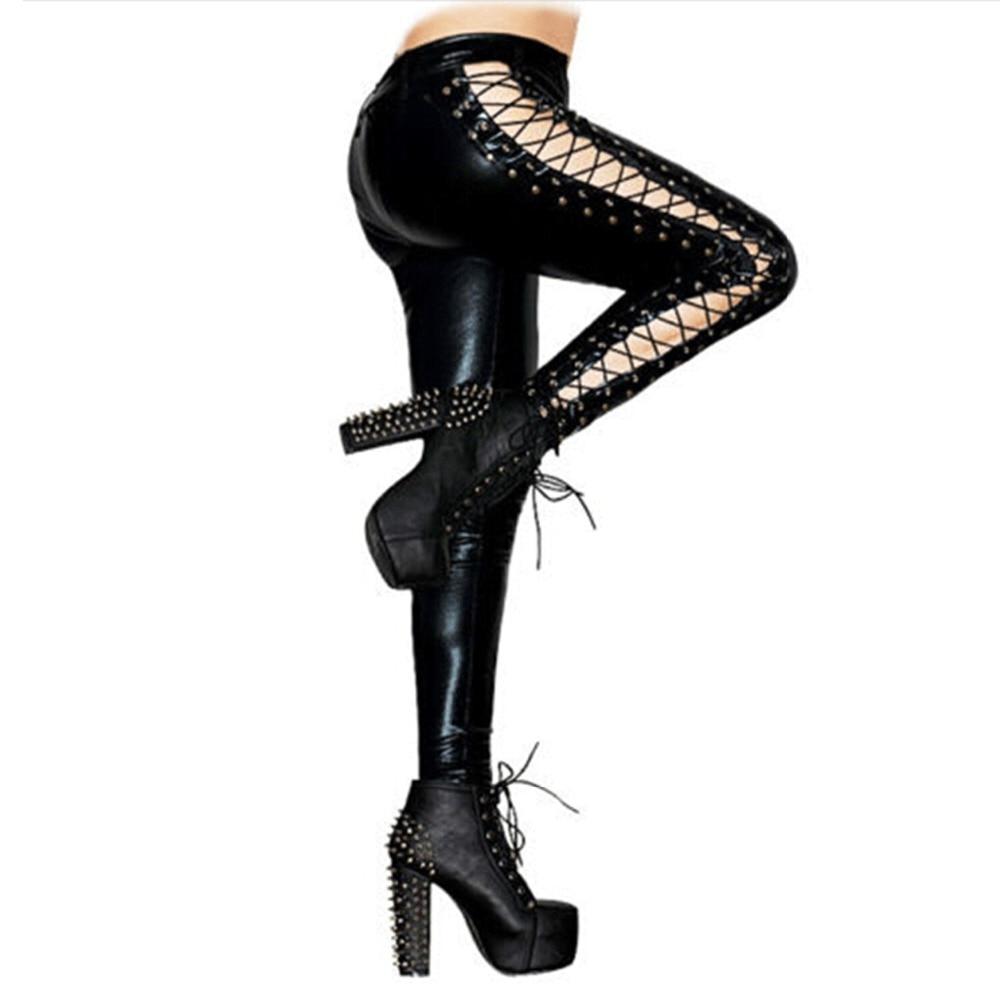 6d6faf378dd64 Sexy High Waist Faux PU Leather Leggings Women Front Zipper Push Up Elastic  Skinny Pencil Legging Leggins Fashion Punk PantsUSD 14.99/piece. 2. 1
