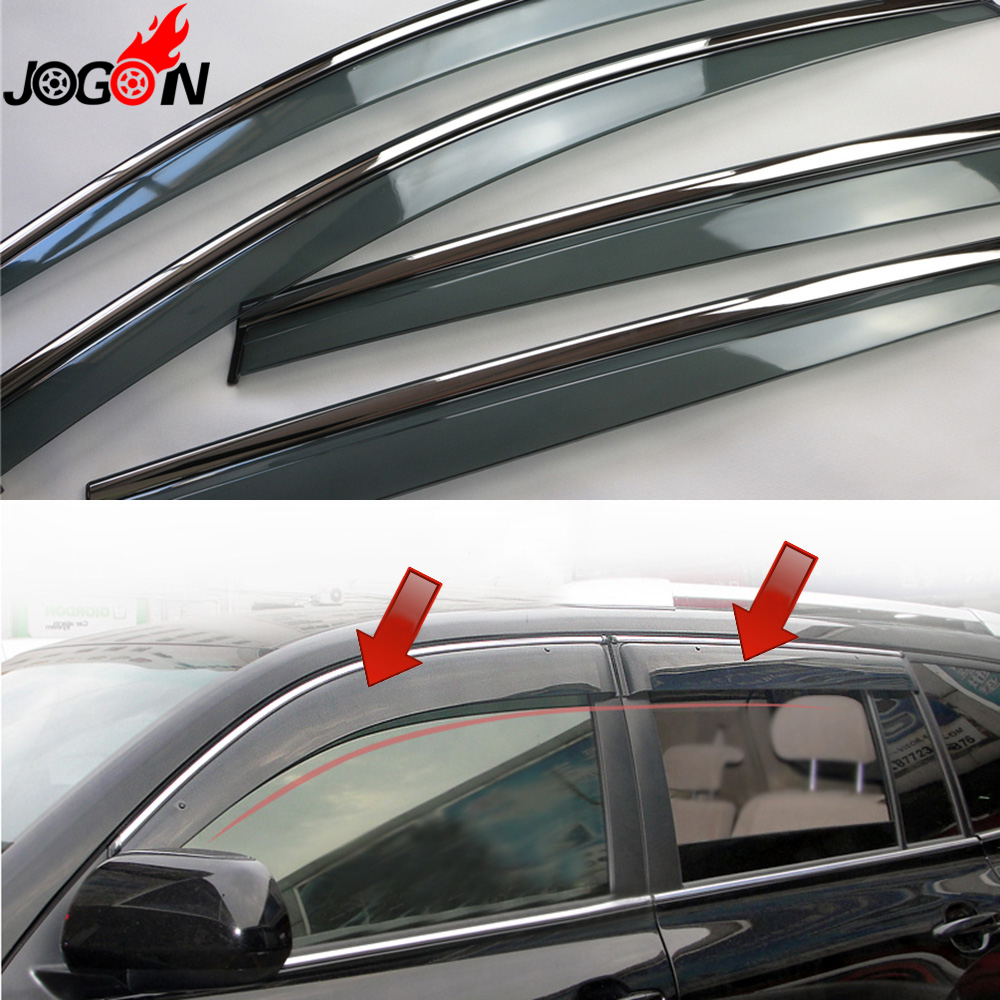 For Toyota Highlander Kluger XU40 2008 - 2011 2012 2013 Window Sun Rain Visors Vent Shade Deflector Guard Weather Shield 4PCS