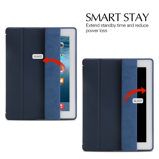 Case For iPad 2 3 4, aiyopeen Ultra Slim PU Leather Flip Cover Soft TPU Back Magentic Smart Case For iPad 2 3 4 A1430 A1460 4