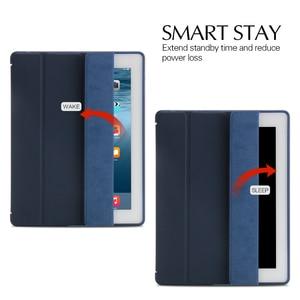 Image 5 - מקרה עבור אפל iPad 2/3/4 aiyopeen Ultra Slim עור מפוצל Flip כיסוי רך TPU חזרה Magentic חכם מקרה עבור iPad 2/3/4 A1430 A1460