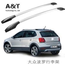 A & T auto styling für Volkswagen Polo autodach rack aluminiumlegierung gepäckträger schlag Kostenloser 1,3 meter